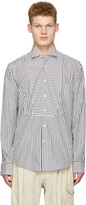 Loewe Black and White Striped Bib Shirt