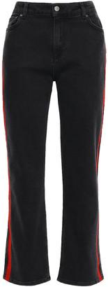 Victoria Victoria Beckham Cropped Embroidered Boyfriend Jeans