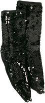 Off-White sequin socks - women - Cotton/Viscose/Silk/Spandex/Elastane - One Size