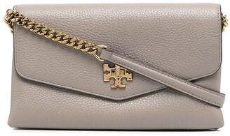 Tory Burch Kira pebbled chain wallet