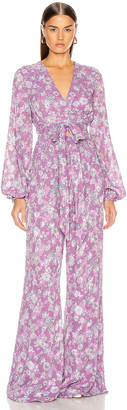 Alexis Shanice Jumpsuit in Lilac Floral | FWRD