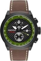Glam Rock Men's Racetrack 48mm Brown Leather Band Swiss Quartz Watch Grt29117f