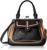 MG Collection Aubrey Vintage Clasp Closure Doctor Shoulder Bag
