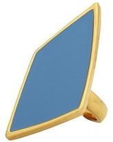 Belle Noel by Kim Kardashian Asymmetrical Diamond Ring in Sky Blue