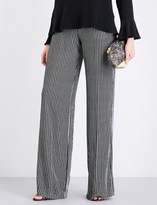 Etro Striped wide-leg velvet jogging bottoms