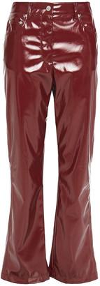 MSGM Vinyl Straight-leg Pants