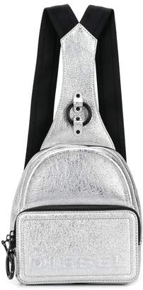 Diesel metallic mini backpack