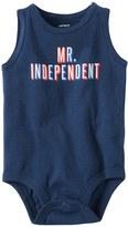 "Carter's Baby Boy Mr. Independent"" Slubbed Bodysuit"