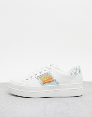 Aldo Starburst flatform trainer with iridescent stripe