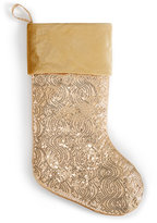 Holiday Lane Gold Sequin Stocking