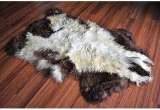 """Buker Animal Print Handmade 2' x 3'2"""" Sheepskin Beige/Brown Indoor / Outdoor Area Rug Millwood Pines"""