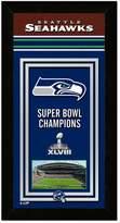 "Seattle Seahawks Super Bowl XLVIII Champions 14.5"" x 27.5"" Framed Banner"