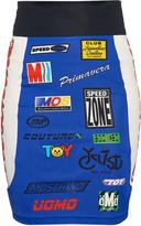 Moschino Biker logo-print skirt