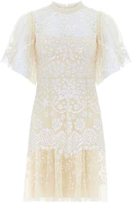 Needle & Thread Floral Sequin Fit--Flare Dress