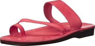 Jerusalem Sandals Zohar - Leather Toe Ring Sandal - Womens Sandals Brown