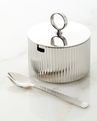 Georg Jensen Bernadotte Sugar Bowl with Spoon