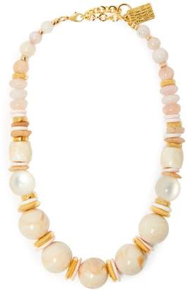 Lizzie Fortunato Quarry 18kt Gold Plated Necklace - Womens - Pink