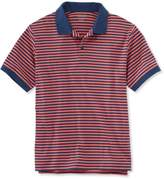 L.L. Bean L.L.Bean Pima Cotton Polo Shirt, Traditional Fit Banded Short-Sleeve Narrow Stripe