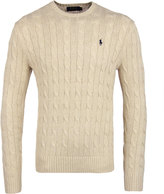 Polo Ralph Lauren Oatmeal Heather Cable Knit Sweater