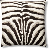 Dransfield and Ross Zebra Hand-Painted 24x24 Pillow, Natural