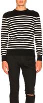 Saint Laurent Cashmere Striped Sweater in Black,Stripes.