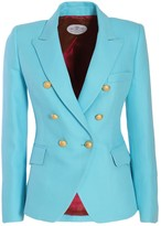 Chloé The Extreme Collection Classic Sky Blue Crossed Blazer