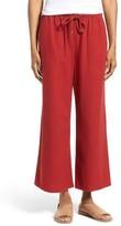 Eileen Fisher Petite Women's Silk Noil Wide Leg Pants