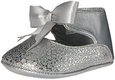 Baby Deer Metallic Ankle Strap with Bow Slip-On