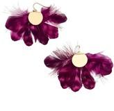 BaubleBar Women's Monarch Feather Statement Earrings