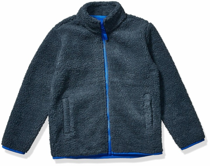 Amazon Essentials Full-zip High-pile Polar Fleece Jacket Dark Gray M (8)