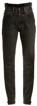 Vetements X Levi's Reworked High-rise Slim-leg Jeans - Womens - Black
