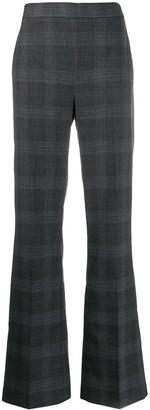 Essentiel Antwerp Plaid Wide-Leg Trousers