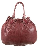 Miu Miu Distressed Leather Satchel