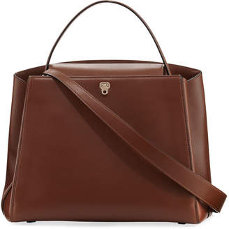 Valextra Triennale Leather Top-Handle Bag