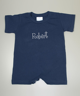 Princess Linens Navy Personalized Romper - Infant