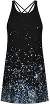 Udear UDEAR Women's Casual Dresses Print - Black & Blue Abstract Dot Strappy-Back Sleeveless Dress - Women & Plus