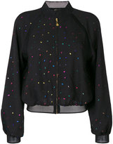 Stine Goya dotted pattern bomber jacket