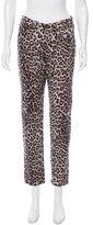 Rag & Bone Snow Leopard Print Boyfriend Jeans