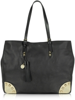 Patrizia Pepe Brass and Leather Tote Bag