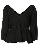 Piamita Crisscross Babydoll blouse