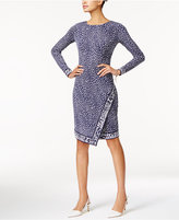 MICHAEL Michael Kors Cheetah-Print Faux-Wrap Dress
