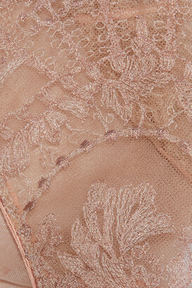 I.D. Sarrieri Desert Rose Embroidered Stretch-tulle Low-rise Briefs