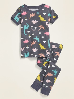 Old Navy Unisex Dino-Print Pajama Set for Toddler