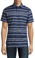 Slate & Stone Stripe Spread Collar Sportshirt