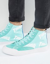 HUF x Thrasher Hi-Top Sneakers With All Over Logo