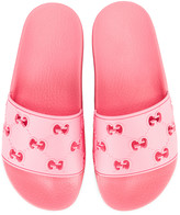 Gucci Bee Rubber Slides in Pink | FWRD