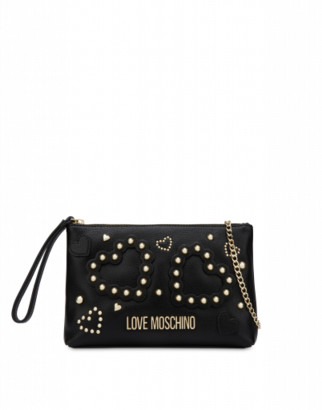 Love Moschino Clutch With Hearts And Studs