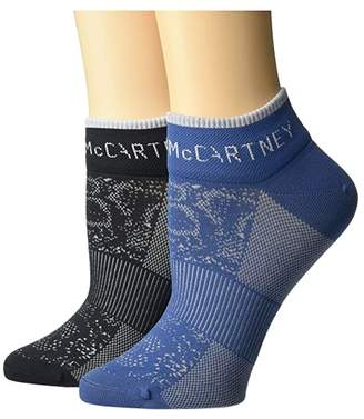 adidas by Stella McCartney Digital Print Ankle Socks FJ2495 (Black/Tech Color) Women's Crew Cut Socks Shoes