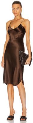 Nili Lotan Short Cami Dress in Espresso | FWRD