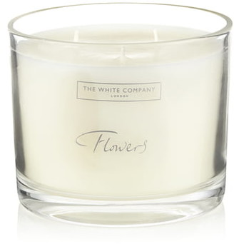 The White Company Large Flowers Scented Candle